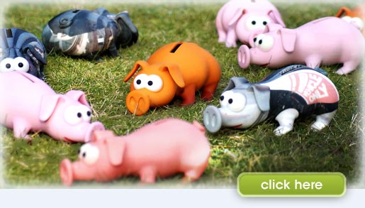 money pig in the grass